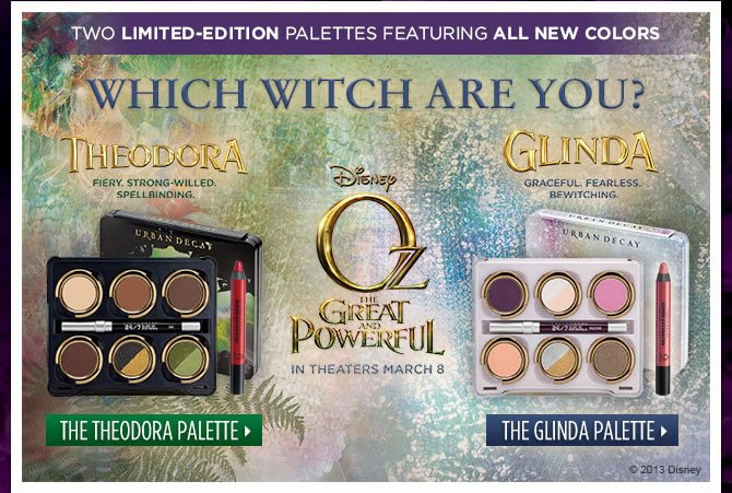 Two Limited-Edition Palettes Inspired By Disney's Oz The Great and Powerful - Which Witch Are You?