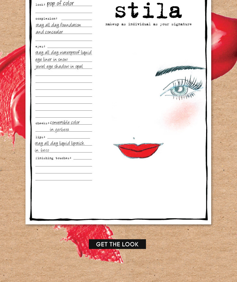 pop of color makeup sheet