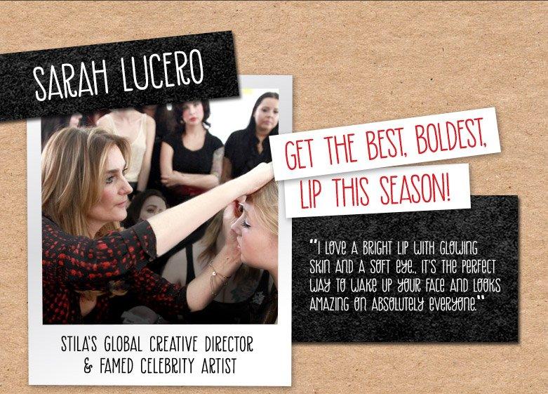 get the best, boldest,lip this season!