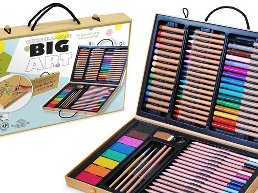 Inspired artists of any age will love this go-anywhere Big Art Set.