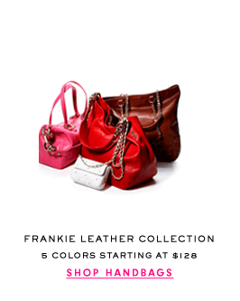 FRANKIE LEATHER COLLECTION - 5 Colors Starting at $128 - SHOP HANDBAGS