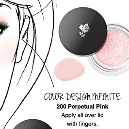 COLOR DESIGN INFINITE | 200 Perpetual Pink | Apply all over lid with fingers.