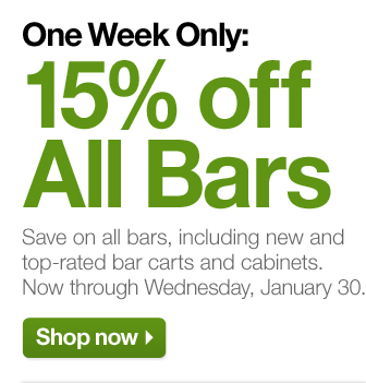 One Week Only: 15% off All  Bars