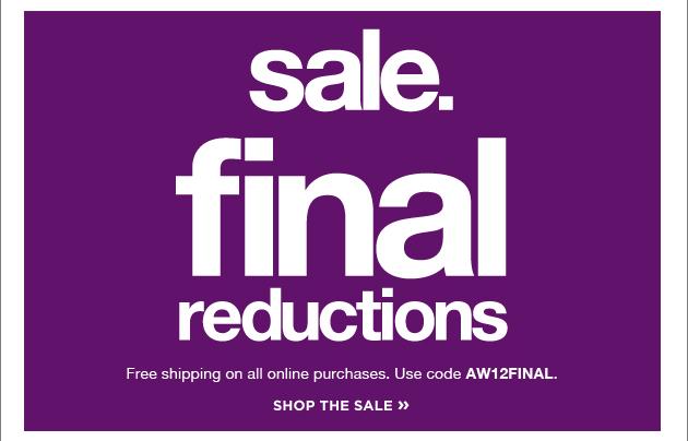 Sale - final reductions