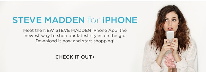Check out the new Steve Madden iPhone app!