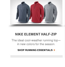 NIKE ELEMENT HALF-ZIP | The ideal cool-weather running top — in new colors for the season. | SHOP RUNNING ESSENTIALS