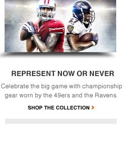 NFL CHAMPIONSHIP GEAR | Back your team as they battle for the ultimate title. | SHOP THE COLLECTION