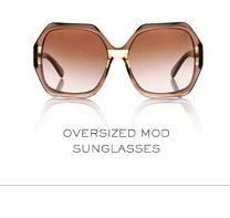 OVERSIZED MOD SUNGLASSES