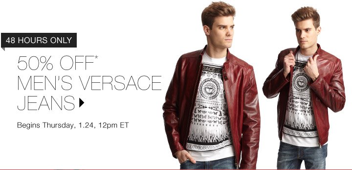50% Off* Versace Jeans