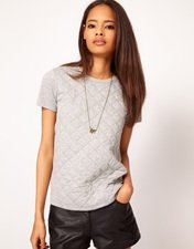 ASOS T-Shirt with Quilted Section