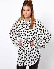 Glamorous Oversize Shirt In Shape Print