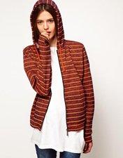 ASOS Hoodie in Neon Stripe