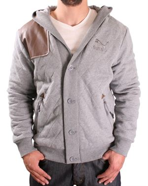 Puma Quilted Cardigan Style Hoodie