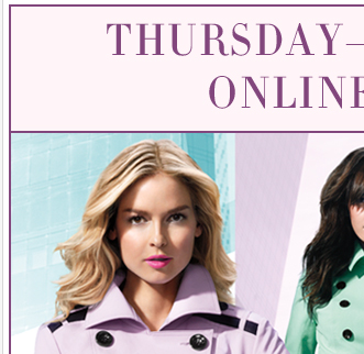 Ends Thursday! Online only! 30% off entire purchase with promo 3673
