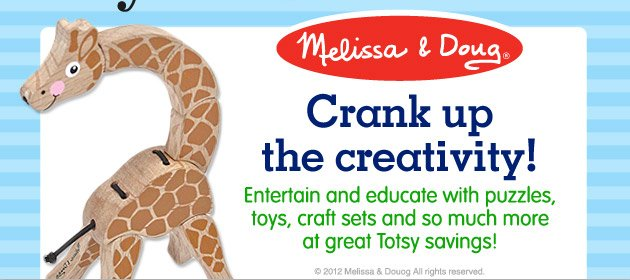Melissa & Doug - Crank up the creativity! Entertain and esucate with puzzles, toys, crtaft sets and so much more