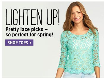 Pretty lace picks - perfect for  spring!