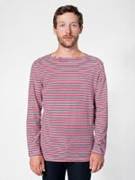 Stripe Boat Neck Shirt