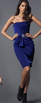Bandeau Bow Panelled Dress