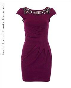 Embellished Ponti Dress