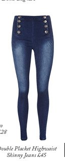Double Placket Highwaist Skinny Jeans