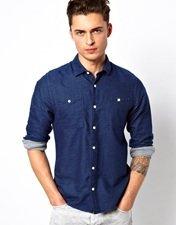 ASOS Brushed Chambray Shirt