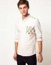ASOS Oxford Shirt With Ikat Print
