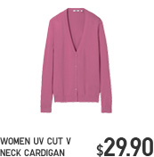 WOMEN UV CUT V NECK CARDIGAN