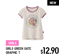 GIRLS GREEN GATE GRAPHIC T
