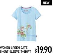 WOMEN GREEN GATE SHORT SLEEVE T-SHIRT