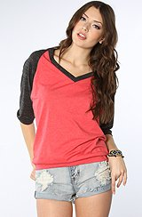 Women's Dolman Slub with Banded Bottom