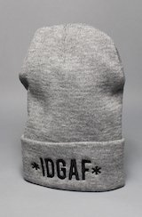 IDGAF (I don't give a f*ck) Beanie - Gray