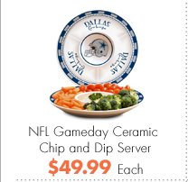 NFL Gameday Ceramic Chip and Dip Server $49.99 Each
