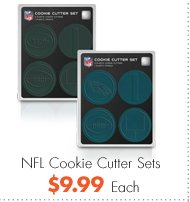 NFL Cookie Cutter Sets $9.99 Each