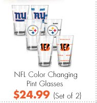 NFL Color Changing Pint Glasses $24.99 (Set of 2)