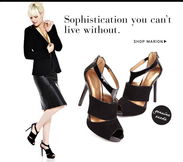 Suede sophistication you can't live without. Shop Marion