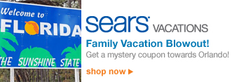 Sears VACATIONS | Family Vacation Blowout! | Get a mystery coupon towards Orlando! | shop now