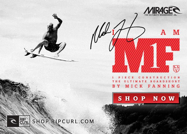MF1 by Mick Fanning. 1 piece construction - The Ultimate Boardshort - Shop Now