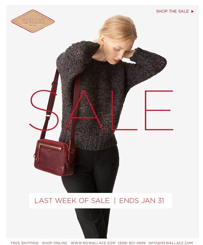 Last week of sale. Ends January 31st.