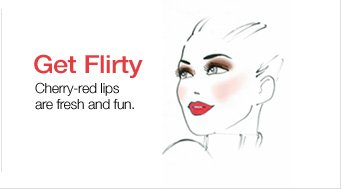 Get  Flirty. Cherry-red lips are fresh and fun.