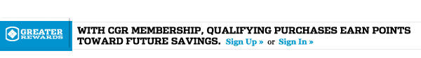 With CGR membership, qualifying purchases earn points toward future savings.