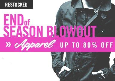 Shop End of Season Blowout: Apparel
