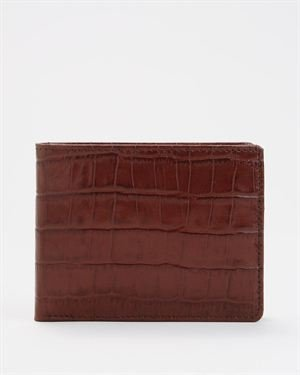 Top V-Day Gift for Him! Joseph Abboud Croc Grain Leather Passcase Wallet