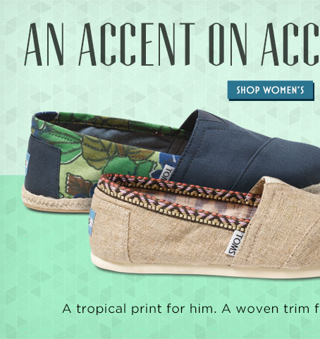 An accent on accents. Shop Women's
