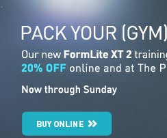 PACK YOUR (GYM) BAGS - Our new FormLite XT2 training shoes are 20% OFF online and at the PUMA Store.*