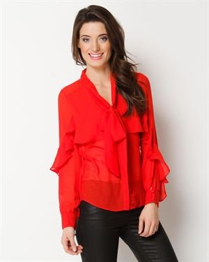Ark & Co. Ruffled And Tied Blouse $45