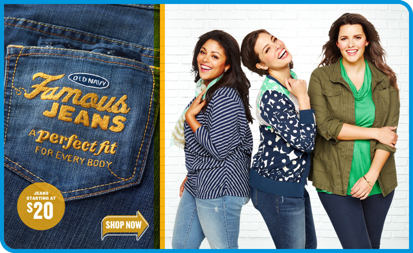 OLD NAVY Famous JEANS | A perfect fit FOR EVERY BODY | SHOP NOW