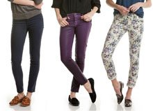 Perfectly Paired Bold Skinnies & Smoking Shoes