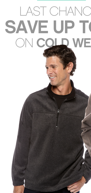 Last chance savings. Save up to 75% off on cold weather gear.