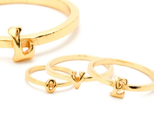Stackable rings are the next iteration of the stacking bracelet trend. I love the idea of wearing one by itself, or together to spell out my initials.