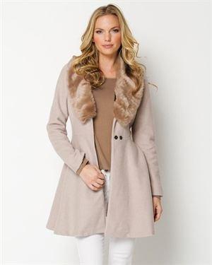 YA Los Angeles Faux Fur Collar Coat $65